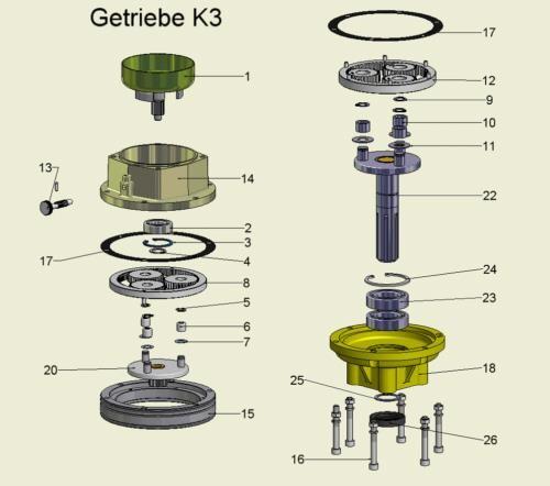 Wellendichtring Pflanzfuchs Vgl.-Nr. 15205012 für Erdbohrgerät PF350 bis Version Serien-NR. 14029 /