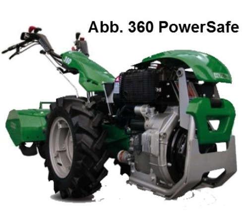 Ferrari Einachsgerät 340 PowerSafe mit Yanmar-Diesel-Motor (10PS) Elektrostarter mit Räder 5.00x10,