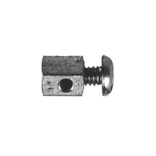 Schraubnippel Draht-Arretierung Länge 13 mm, ZB 2,8 mm für versch. Stärken, Kabel-Stop für Stahldrah